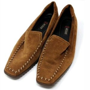 Ecco Tan Suede Leather Loafers US 7 - 7.5